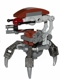 Minifig No: sw0441  Name: Droideka - Destroyer Droid (Pearl Dark Gray Arms Mechanical)