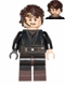 Minifig No: sw0526  Name: Anakin Skywalker (Dark Brown Legs, Headset)