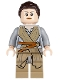 Minifig No: sw0677  Name: Rey - Dark Tan Tied Robe