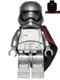 Minifig No: sw0684  Name: Captain Phasma (Rounded Mouth Pattern)