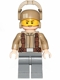 Minifig No: sw0697  Name: Resistance Trooper - Dark Tan Jacket, Frown, Furrowed Eyebrows