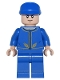 Minifig No: sw0762  Name: Bespin Guard - Light Flesh Head, Detailed Gold Trim, Furrowed Eyebrows