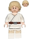 Minifig No: sw0778  Name: Luke Skywalker (Tatooine, White Legs, Stern / Smile Face Print)