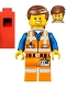 Minifig No: tlm059  Name: Emmet - Wide Smile