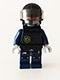 Minifig No: tlm069  Name: Robo SWAT with Aviator Cap and Body Armor