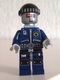 Minifig No: tlm079  Name: Robo SWAT with Knit Cap and Neck Bracket
