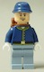 Minifig No: tlr021  Name: Cavalry Soldier - Backpack, Brown Eyebrows, Crooked Open Smile, Beard