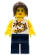 Minifig No: tls017  Name: Lego Brand Store Female, Yellow Flowers - San Diego