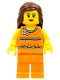Minifig No: tls029  Name: Lego Brand Store Female, Orange Halter Top - Toronto Fairview