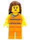 Minifig No: tls039  Name: Lego Brand Store Female, Orange Halter Top - Vancouver