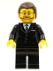 Minifig No: tls042  Name: Lego Brand Store Male, Black Suit - Victor