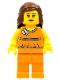 Minifig No: tls054  Name: Lego Brand Store Female, Orange Halter Top - Overland Park