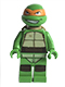 Minifig No: tnt038  Name: Michelangelo (79122)