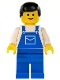 Minifig No: trn025  Name: Overalls Blue with Pocket, Blue Legs, Black Male Hair