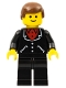 Minifig No: trn251  Name: Suit with 3 Buttons Black - Black Legs, Brown Male Hair