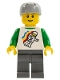 Minifig No: twn113  Name: Classic Space Minifigure Floating Pattern, Dark Bluish Gray Legs, Sports Helmet