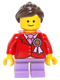 Minifig No: twn250  Name: Child, Red Jacket with Ribbon