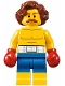 Minifig No: twn309  Name: Boxer, Wavy Reddish Brown Hair