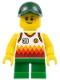 Minifig No: twn329  Name: Boy, Jersey with #39, Green Short Legs, Dark Green Cap