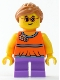 Minifig No: twn337  Name: Girl with Orange Top and Medium Lavender Legs
