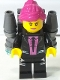 Minifig No: uagt018  Name: Agent Caila Phoenix with Jetpack without Sticker
