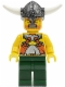 Minifig No: vik017  Name: Viking Warrior 6a - Dark Green Hips and Legs