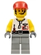 Minifig No: wc4060  Name: Grip with Light Gray Legs, Red Cap