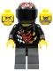 Minifig No: wr002  Name: Backyard Blaster 1 (Bart Blaster) - Standard Helmet, Black Visor