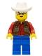 Minifig No: ww012  Name: Cowboy Red Shirt