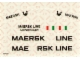 Part No: 1650stk01  Name: Sticker for Set 1650 - Sheet 1, Ship Hull (004591)
