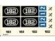 Part No: 182stk01  Name: Sticker for Set 182 - (004590)