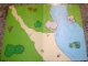 Part No: 4182739  Name: Plastic Playmat Duplo, with River Pattern from Set 3612 (32x42cm)