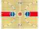 Part No: 4189503  Name: Plastic Playmat, Basketball NBA Court Pattern from Set 3428