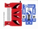 Part No: 6111stk01  Name: Sticker for Set 6111 - Sheet 1, Blue Renegade and Road Hero (56784/4297580)