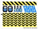 Part No: 6575stk02  Name: Sticker for Set 6575 - Sheet 2, Danger Stripes (72637/4118676)