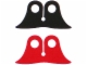 Part No: 88685  Name: Minifigure, Cape Cloth, Pointed Collar with Black and Red Sides