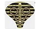 Part No: 93668  Name: Plastic Cobra Hood with Hieroglyphs Pattern