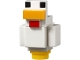 Part No: minechicken01  Name: Minecraft Chicken - Complete Assembly (21140)
