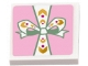 Part No: 11203pb016  Name: Tile, Modified 2 x 2 Inverted with Present / Gift with Green and White Bow Pattern (Sticker) - Set 41068
