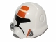 Part No: 11219pb01  Name: Minifigure, Headgear Helmet SW Republic Trooper with Orange Pattern