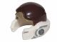 Part No: 11538pb03  Name: Minifigure, Headgear Helmet SW Rebel with Dark Brown and Dark Tan Pattern