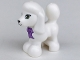 Part No: 11575pb02  Name: Dog Poodle with Purple Bow, Blue Eyes, Black Nose and Mouth Pattern