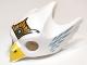 Part No: 12549pb04  Name: Minifigure, Headgear Mask Bird (Eagle) with Yellow Beak, Gold Tiara and Medium Blue Feathers Pattern
