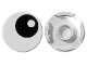 Part No: 14769pb004  Name: Tile, Round 2 x 2 with Bottom Stud Holder with Black Eye with Pupil Pattern