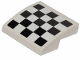 Part No: 15068pb160  Name: Slope, Curved 2 x 2 No Studs with Checkered Pattern (Sticker) - Set 31094