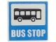 Part No: 15210pb020  Name: Road Sign Clip-on 2 x 2 Square Open O Clip with Bus and 'BUS STOP' Pattern