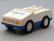 Part No: 2235pb04  Name: Duplo Car with 1 x 2 Studs with Blue Base and 'POLICE' Pattern