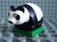 Part No: 2334c01pb01  Name: Duplo Panda Cub on Green Base, Eyes looking Left