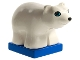 Part No: 2334c02pb01  Name: Duplo Bear Polar Cub on Blue Base, Round Eyes