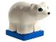 Part No: 2334c02pb01  Name: Duplo Polar Bear Cub on Blue Base, Round Eyes